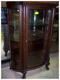 curved glass china cabinet mahogany curved glass china cabinet chippendale federal style