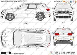 blue jeep grand cherokee srt8 the blueprints com vector drawing jeep grand cherokee srt8