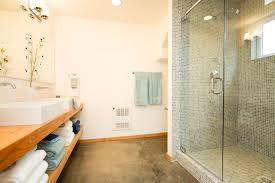 Bamboo Floors In Bathroom A Look At The Use Of Concrete Floors In Bathrooms