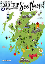 Map Of England And Scotland the ultimate map of things to see when visiting scotland hand