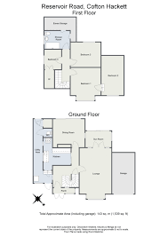 Floor Plan To Scale by Four Bedroom Detached House Reservoir Road Cofton Hackett B45
