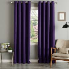 Lavender Blackout Curtains by Aurora Home Grommet Top Thermal Insulated 96 Inch Blackout Curtain
