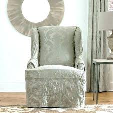 slipcover wing chair white wingback chair slipcovers historicthomaswv com