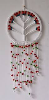 dreamcatcher macrame tree of 100 cotton rope handcrafted