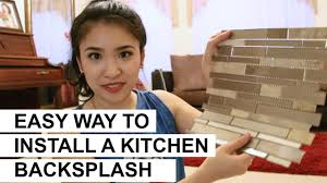How To Install A Backsplash In A Kitchen Easy Way To Install A Kitchen Backsplash Diy Youtube