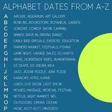 alphabet dating date ideas from a z local adventurer