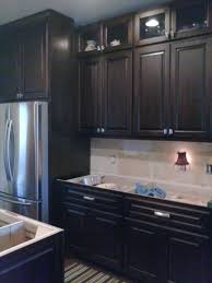 Stain Kitchen Cabinets Darker Dark Espresso Stained Maple Stained Kitchen Cabinets Pinterest