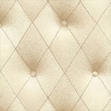 faux 3 d cream button tufted diamond patterned wallpaper ll29572