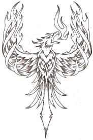 fenix clipart line drawing pencil and in color fenix clipart