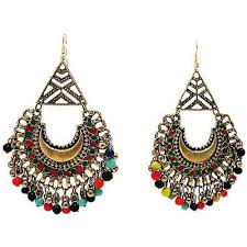 dangle earing white metal dangle earrings at rs 140 pair dangling earring
