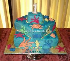 coolest first birthday under the sea cake sea cakes square