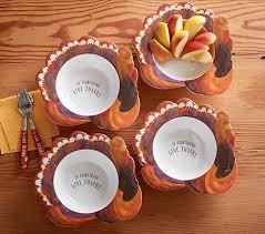 thanksgiving turkey shaped bowl pottery barn