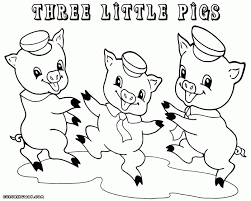 3 pigs coloring pages coloring pages kids collection