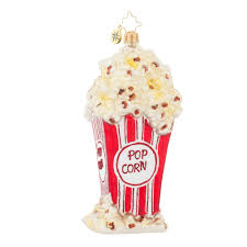 Radko Halloween Ornaments Radko 1017952 Perfectly Popped Bag Of Popcorn Ornament New