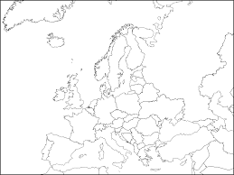 Unlabeled Map Of Europe by Free Printable Maps Of Europe And Map Of Black And White