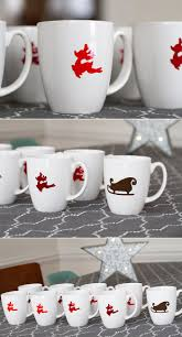 Creative Mug Designs by Best 25 Christmas Mugs Ideas Only On Pinterest Painted Mugs