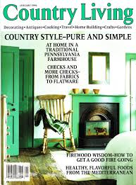 buy country living magazine january 1995 country comfort in
