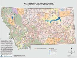 Map Of Montana State by Montana Outfitted Lands Map Sparks Controversy State U0026 Regional