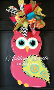 white owl decorations best door ideas on hangers crafts