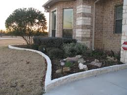 Patio Edging Options by Magnificent Flower Bed Edging Ideas With Stone Front Yard Patio