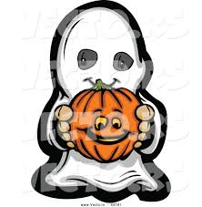 pumpkin cartoon pic vector of a cartoon kid ghost holding a pumpkin by chromaco 44181