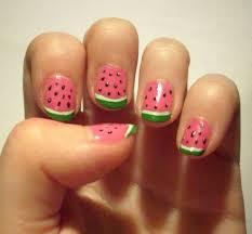 watermelon nails so cute hair u2022 makeup u2022 nails pinterest