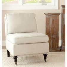 Striped Slipper Chair Safavieh Randy Off White Linen Slipper Chair Mcr4584d The Home Depot