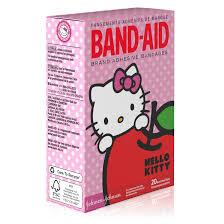 band aid brand adhesive bandages featuring hello kitty for kids