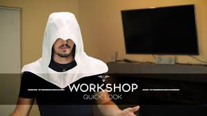 spirit halloween assassin s creed altair hood quick look youtube
