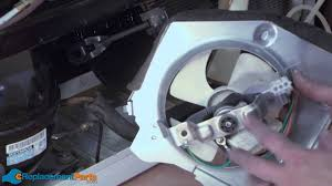 ac fan motor replacement cost how to replace the condenser fan motor on a ge refrigerator youtube