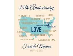 35 anniversary gift 35th wedding coral anniversary card 35 wedding anniversary