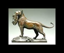 lioness statue auguste cain expert authentication certificates of