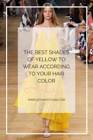 the best shades of yellow to wear according to your hair color