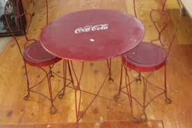 coca cola table and chairs coca cola table set jpg