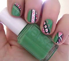simple aztec nail art u2013 rara reid