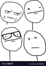 Meme Poker - guy meme poker face for any design royalty free vector image