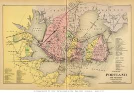 Map Of Portland Old Maps Of Portland Maine