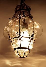 Murano Blown Glass Chandelier Vintage Murano Seguso Cage Lamp Bohemian Pendant от Crolandco