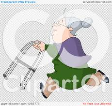 Grandma In Rocking Chair Clipart Clipart Of A Caucasian Senior Granny Woman Running With A Walker