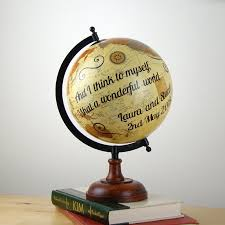 wedding gift ideas uk world globe personalised globe wedding gift idea unique