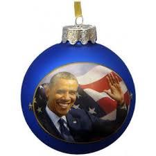 obama glass ball ornament