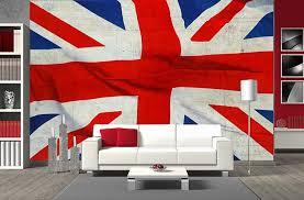 d馗oration chambre angleterre papier peint panoramique drapeau de l angleterre en grand format