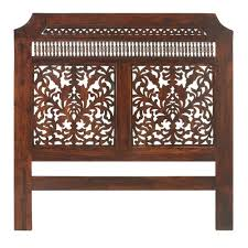 solid wood king headboard home decorators collection maharaja walnut queen headboard