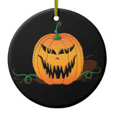 scary pumpkin ornaments keepsake ornaments zazzle