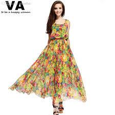 cheap maxi dresses wholesale yellow floral print dress maxi plus size xxxl
