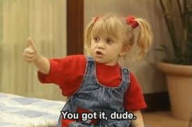 You Got It Dude Meme - michelle tanner saying you got it dude full house gifrific