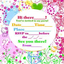 hello kitty birthday invitations with photo tags hello kitty