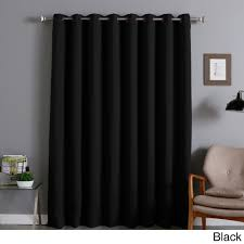 black blackout curtains bedroom aurora home extra wide thermal 96 inch blackout curtain panel dark