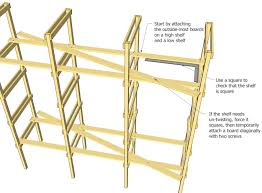 Free Standing Garage Shelves Plans by Garage Shelving Plans Latest Medium Image For Large Maple