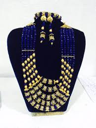fashion beads necklace images Buy african beaded necklace blue fashion african jewelry set jpeg